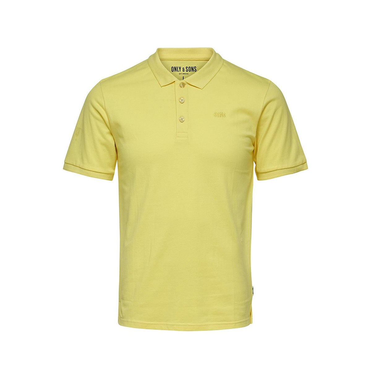 onsscott pique polo noos 22013117 only & sons polo mellow yellow