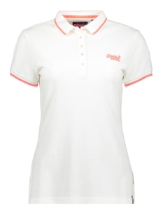 Superdry T-shirt PACIFIC POLO G60008TQ OPTIC WHITE