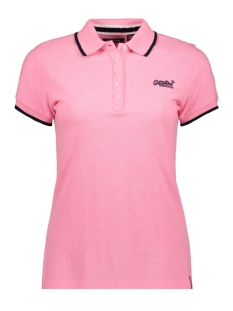 Superdry T-shirt PACIFIC POLO G60008TQ FLURO PINK