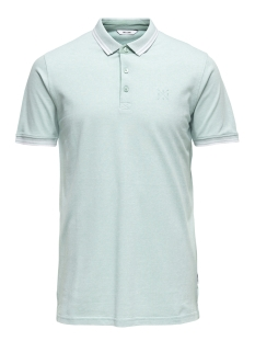 Only & Sons Polo onsSTAN SS FITTED POLO TEE 6560 N 22011349 Aquifer/WHITE
