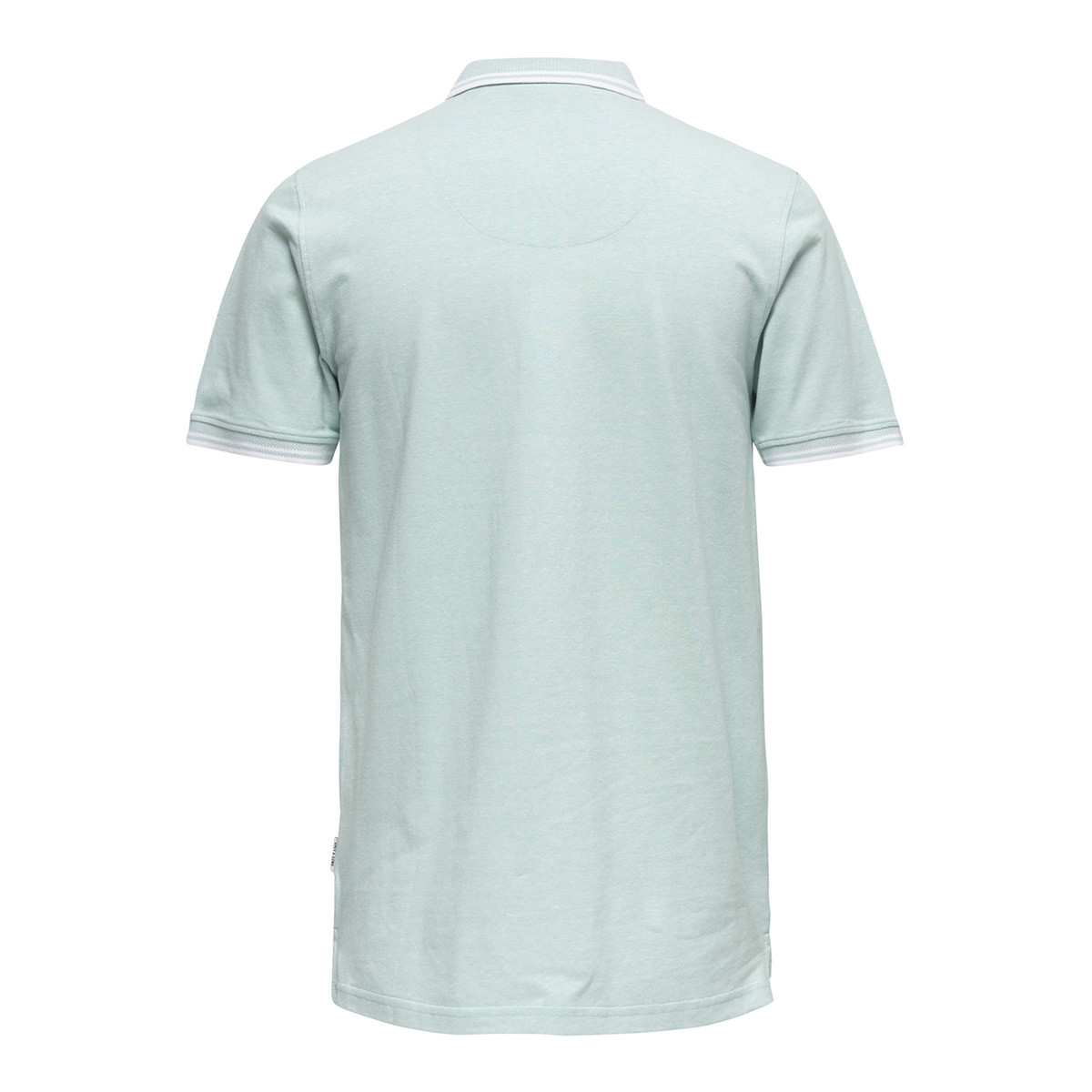 onsstan ss fitted polo tee 6560 n 22011349 only & sons polo aquifer/white