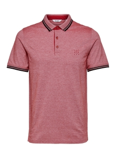 Only & Sons Polo onsSTAN SS FITTED POLO TEE 6560 N 22011349 Tango Red