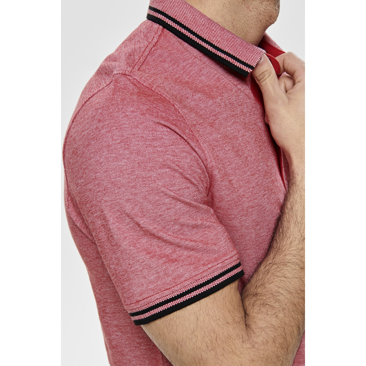 onsstan ss fitted polo tee 6560 n 22011349 only & sons polo tango red