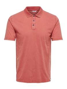 Only & Sons Polo onsDACID SLUB POLO 22013120 Cranberry