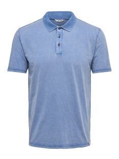Only & Sons Polo onsDACID SLUB POLO 22013120 Baleine Blue