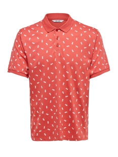 Only & Sons Polo onsPENFIELD SS POLO 22013052 Cranberry