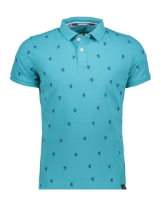 Superdry Polo BERMUDA CITY POLO M11200RU MARLIN PETROL GREEN