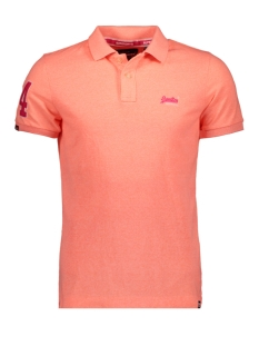 Superdry Polo CLASSIC PIQUE POLO M11202RU CABANA CORAL GRIT