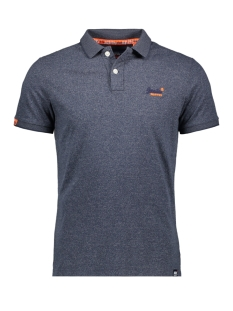 Superdry Polo ORANGE LABEL JERSEY POLO M11206EU NAVY GRIT FEEDER