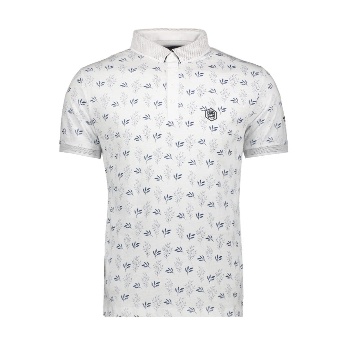 short sleeve polo 22137 gabbiano polo white