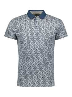NO-EXCESS Polo ALL OVER PRINTED POLO 91380504 132 SHADOW BLUE