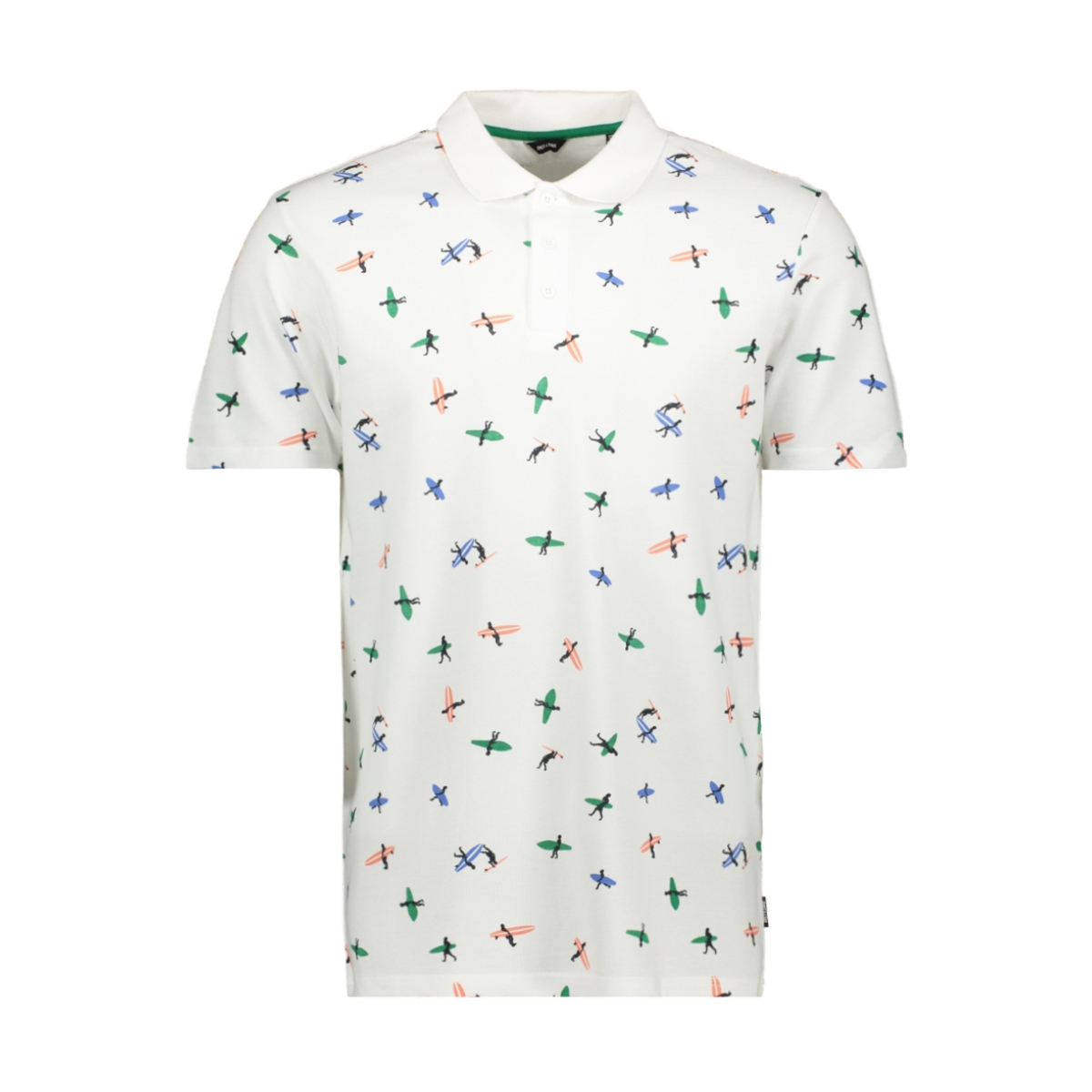 onsbrodery ss aop pique polo 22015351 only & sons polo white