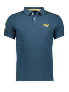classic pique s s polo m1100004a superdry polo carbon blue grit