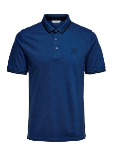 onsstan ss fitted polo tee (6560) noos 22011349 only & sons polo baleine blue
