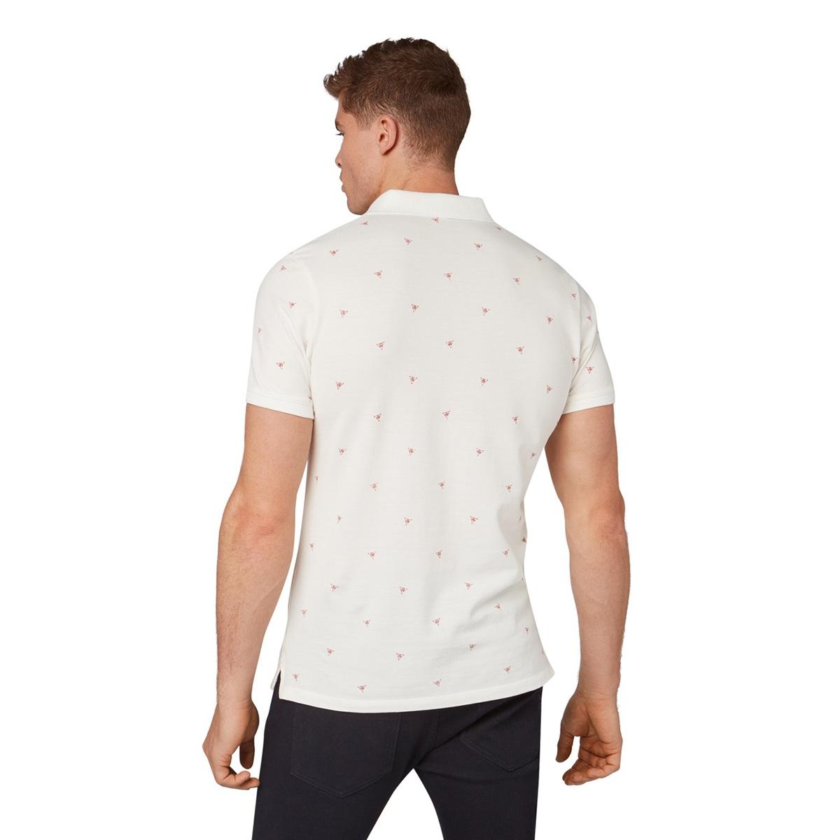 polo shirt met allover print 1012858xx10 tom tailor polo 19051