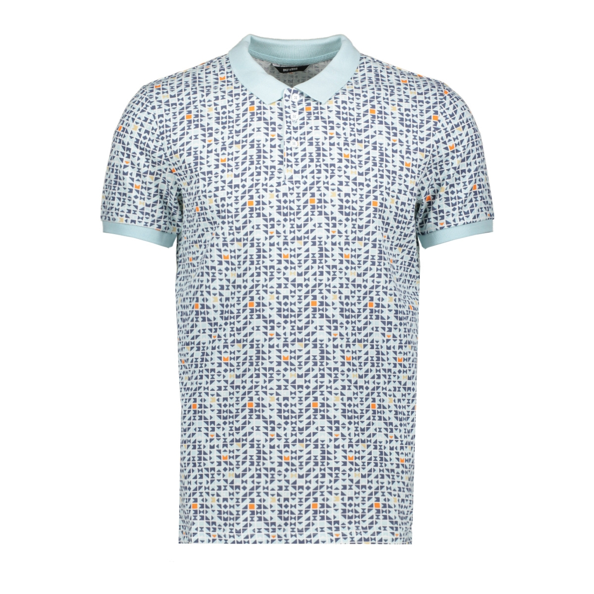 onstrey pique ss polo 22015168 only & sons polo blue ice