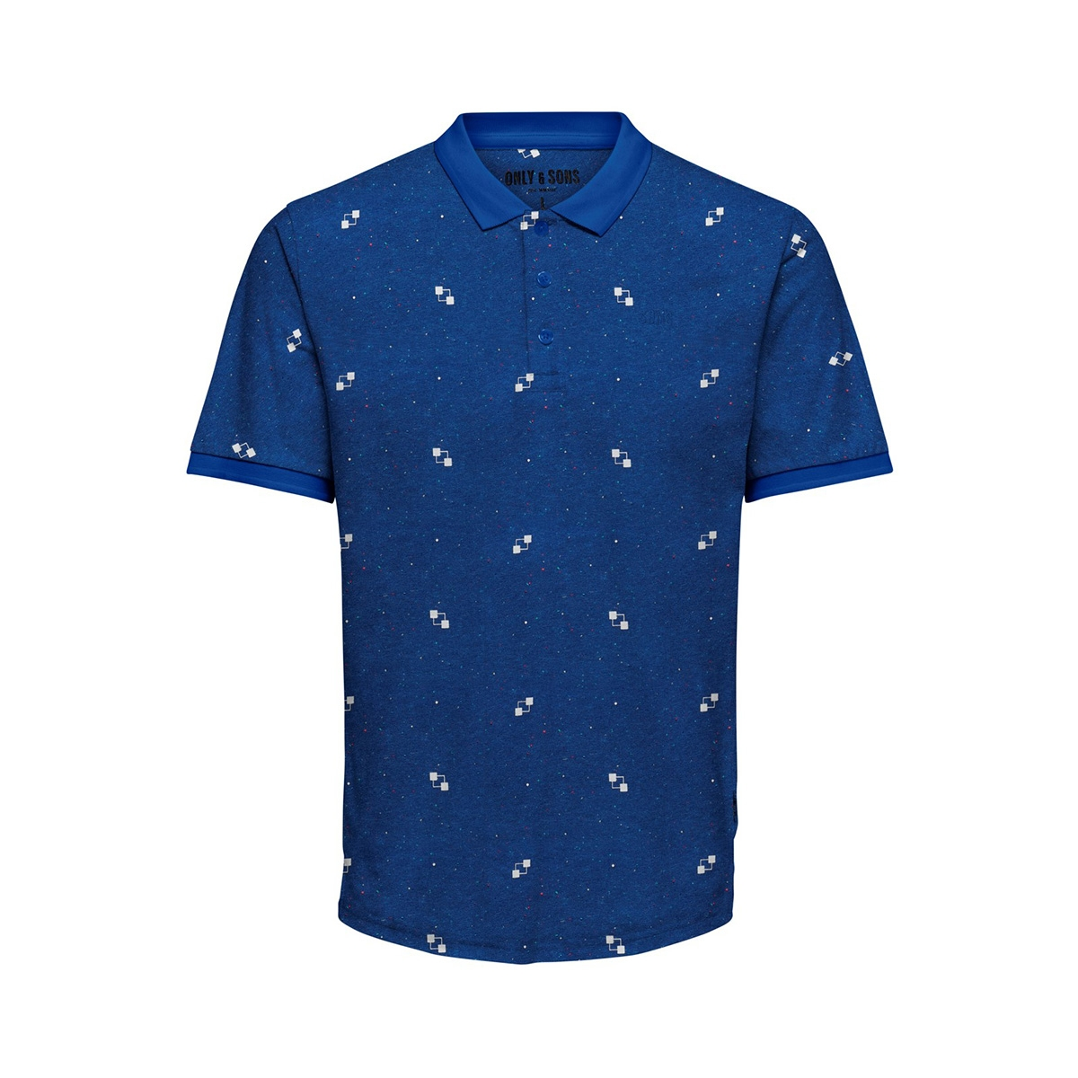 onsknight slim ss aop polo tee 22014787 only & sons polo baleine blue