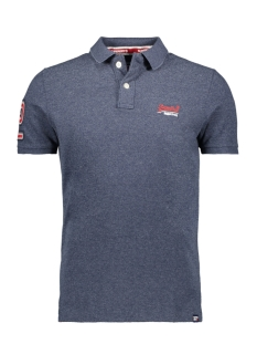 Superdry Polo CLASSIC PIQUE S S POLO M1100004A CREEK NAVY GRINDLE