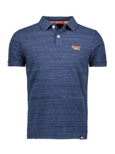 orange label jersey ss polo m1100007a superdry polo navy fleck