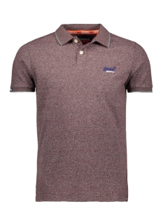 Superdry Polo JERSEY SS POLO M1100007A BUCK BURGUNDY FEEDER