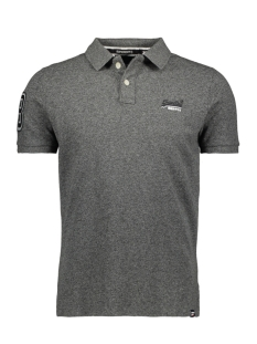 Superdry Polo CLASSIC PIQUE S S POLO M1100004A NORDIC CHARCOAL GRIT