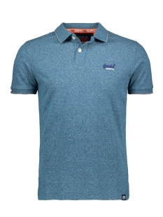 Superdry Polo JERSEY SS POLO M1100007A CARBON BLUE FEEDER