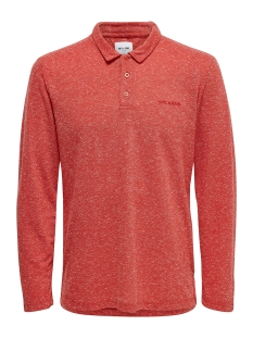 Only & Sons Polo ONSBRIAN REG LS  NAPS POLO 22016467 Aura Orange