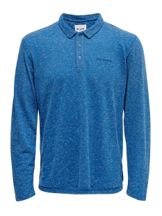 Only & Sons Polo ONSBRIAN REG LS  NAPS POLO 22016467 Baleine Blue