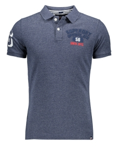 Superdry Polo SUPERSTATE SHADOW POLO M1100010A CREEK NAVY GRINDLE