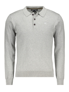 Haze & Finn Polo KNIT POLO LS MC10 0213 LIGHT GREY MELANGE
