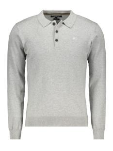 knit polo ls mc10 0213 haze & finn polo light grey melange