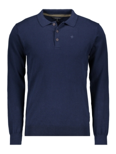 Haze & Finn Polo KNIT POLO LS MC10 0213 DARK NAVY