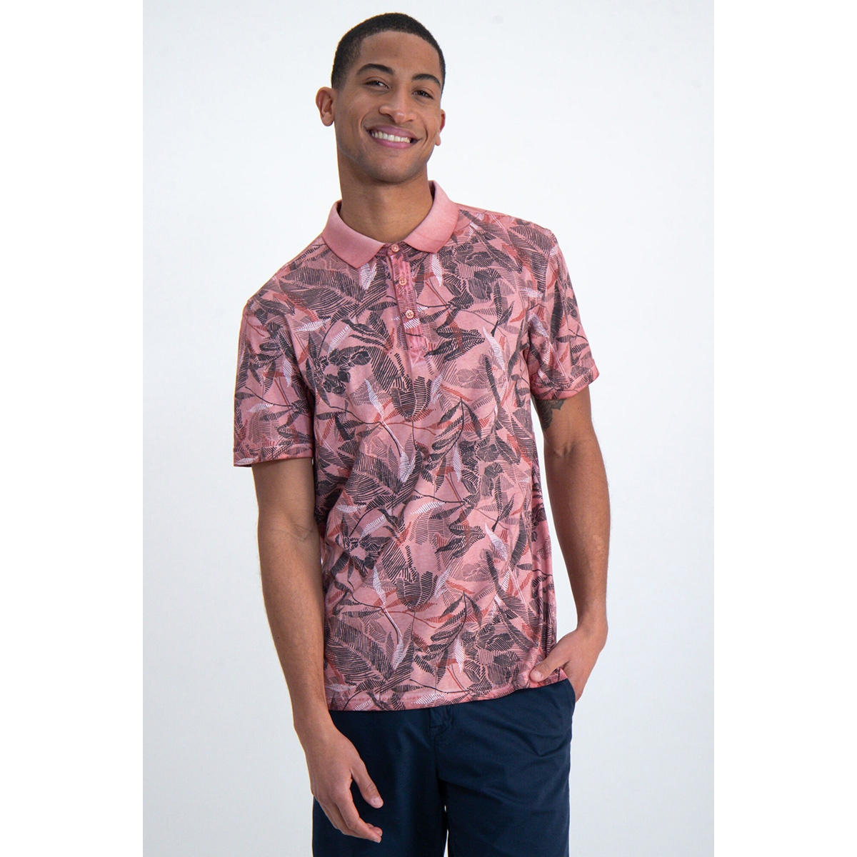 polo met all over print n01221 garcia polo 3068 coral reef