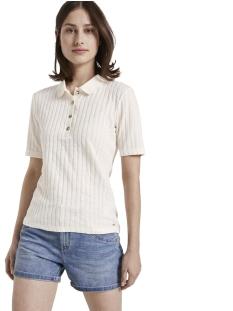 polo shirt in geribte look 1017521xx71 tom tailor t-shirt 10348