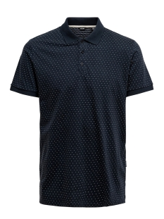 Only & Sons Polo ONSKEEN SLIM SS JAQUARD POLO 22016088 Dark Navy