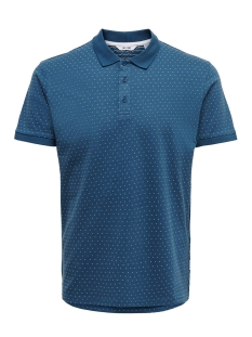 onskeen slim ss jaquard polo 22016088 only & sons polo dark blue