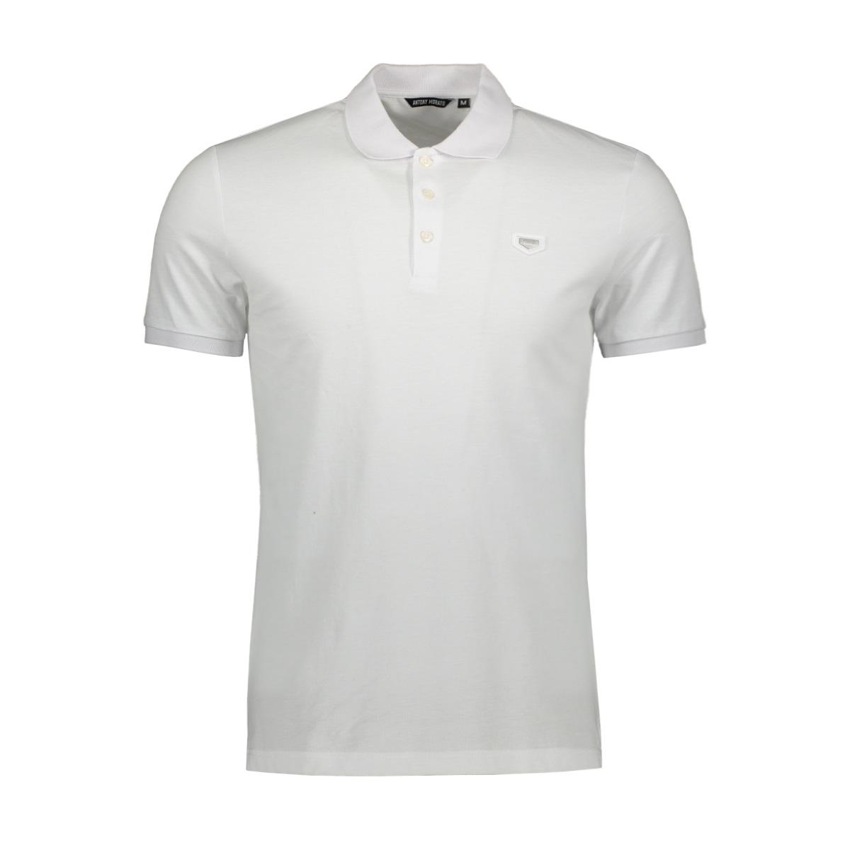polo with patch mmks01738 antony morato polo 1000 white