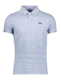 Superdry Polo JERSEY S/S POLO M1110002A GRAVEL BLUE GRIT