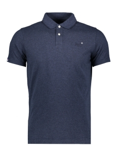 Superdry Polo JERSEY S/S POLO M1110002A MIDNIGHT BLUE FEEDER