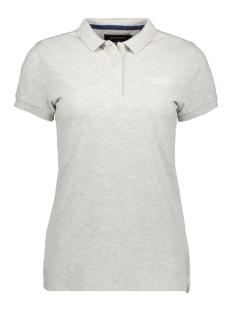 Superdry T-shirt POLO SHIRT W6010017A GREY MARL