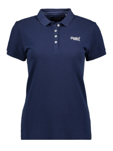 Superdry T-shirt POLO SHIRT W6010017A ATLANTIC NAVY