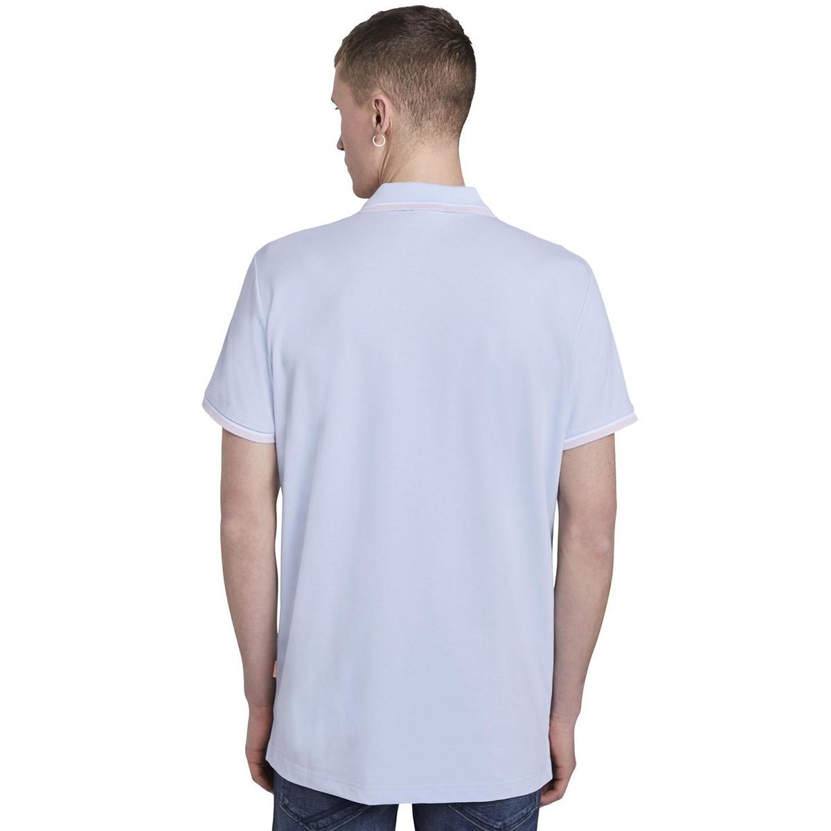 polo shirt met borduurwerk 1019093x12 tom tailor polo 23987
