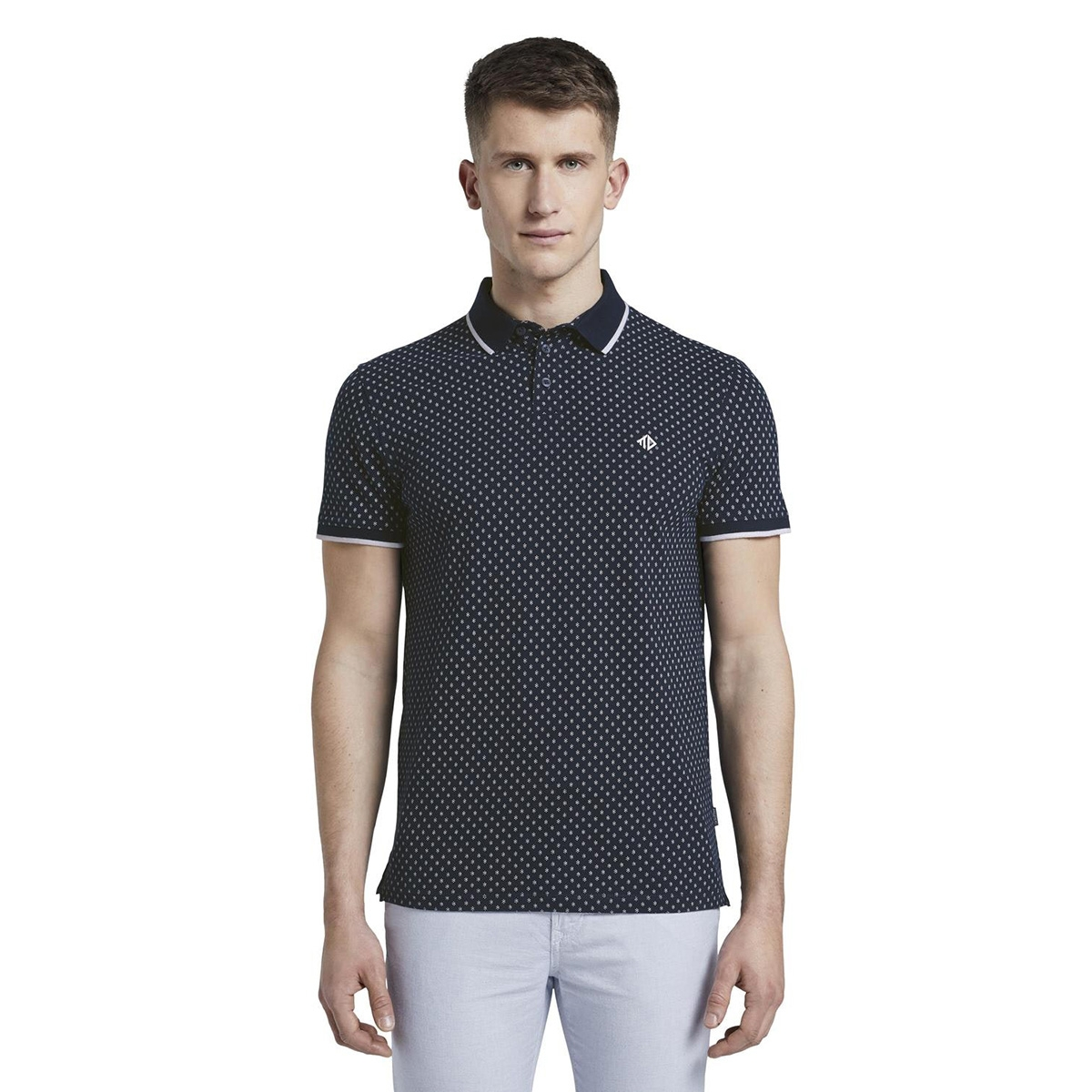 gedessineerde polo shirt 1017681xx12 tom tailor polo 22220