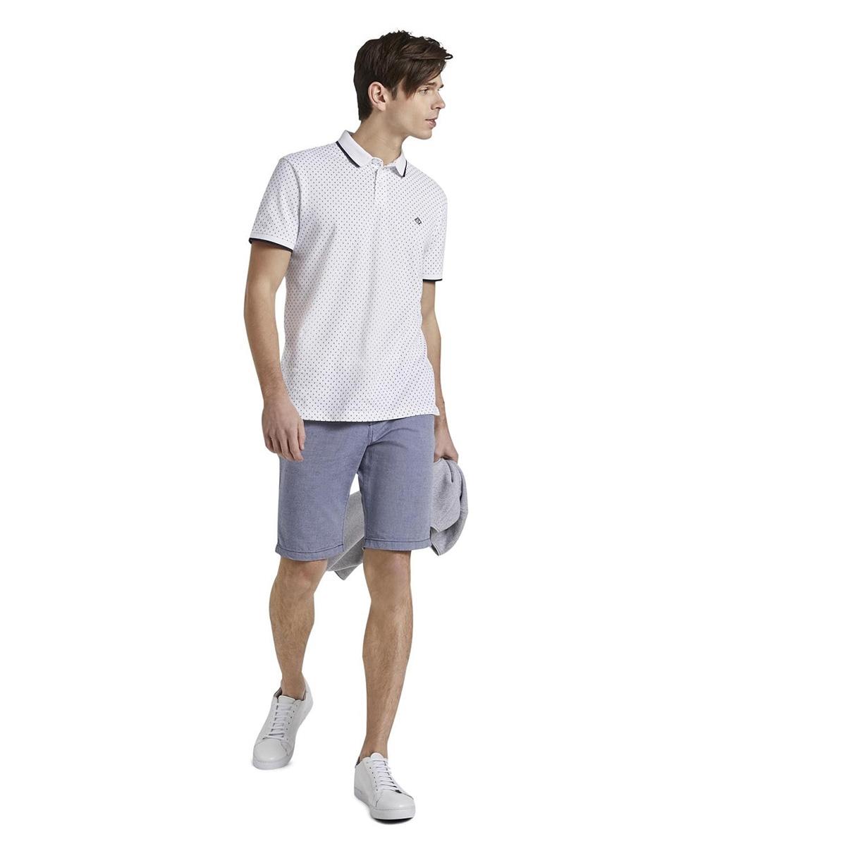 gedessineerde polo shirt 1017681xx12 tom tailor polo 22221