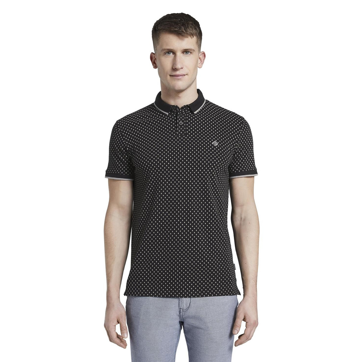 gedessineerde polo shirt 1017681xx12 tom tailor polo 22812