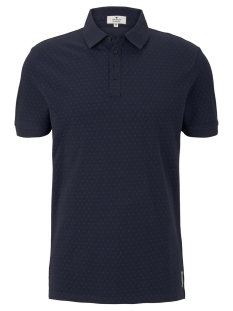 polo met all over print 1020784xx10 tom tailor polo 10668