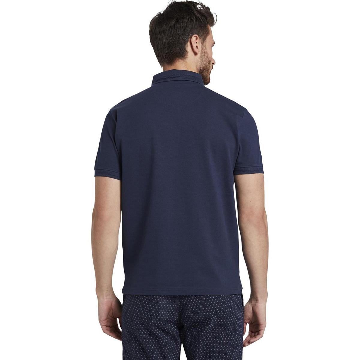 poloshirt met klein logo 1018143xx10 tom tailor polo 10334