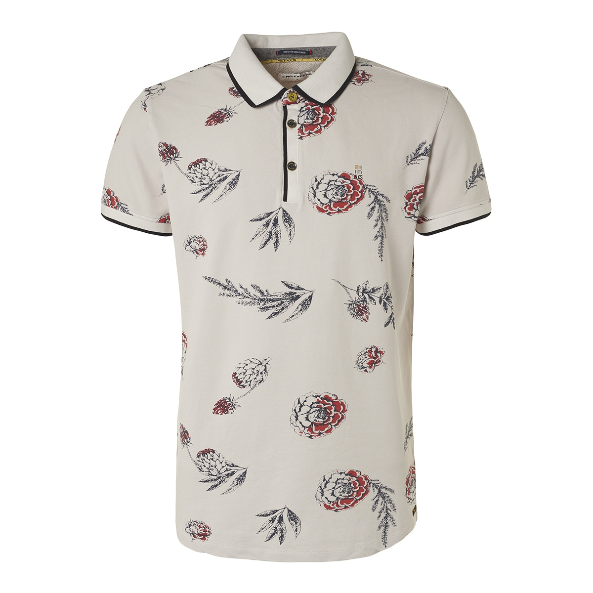 all over printed pique polo 95370209 no-excess polo 017 chalk
