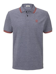 tweekleurige polo hemd 1016150xx10 tom tailor polo 19631