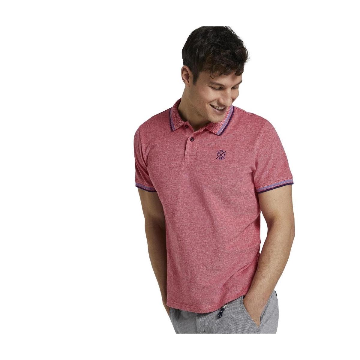 tweekleurige polo hemd 1016150xx10 tom tailor polo 21334